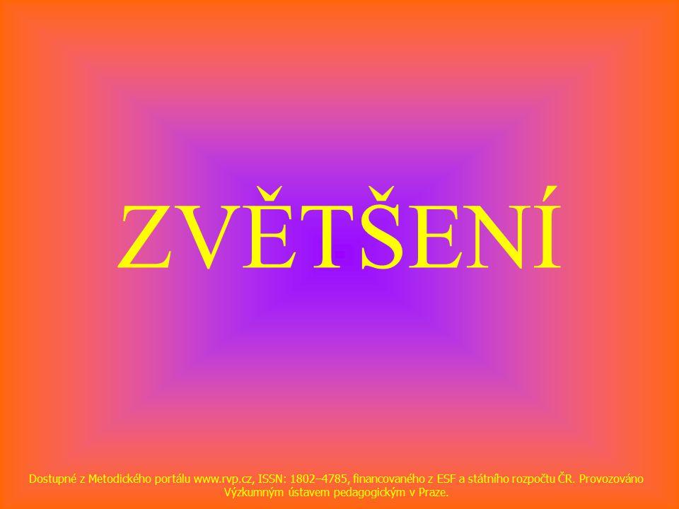 ZVĚTŠENÍ Dostupné z Metodického portálu www.rvp.cz, ISSN: 1802–4785, financovaného z ESF a státního rozpočtu ČR.
