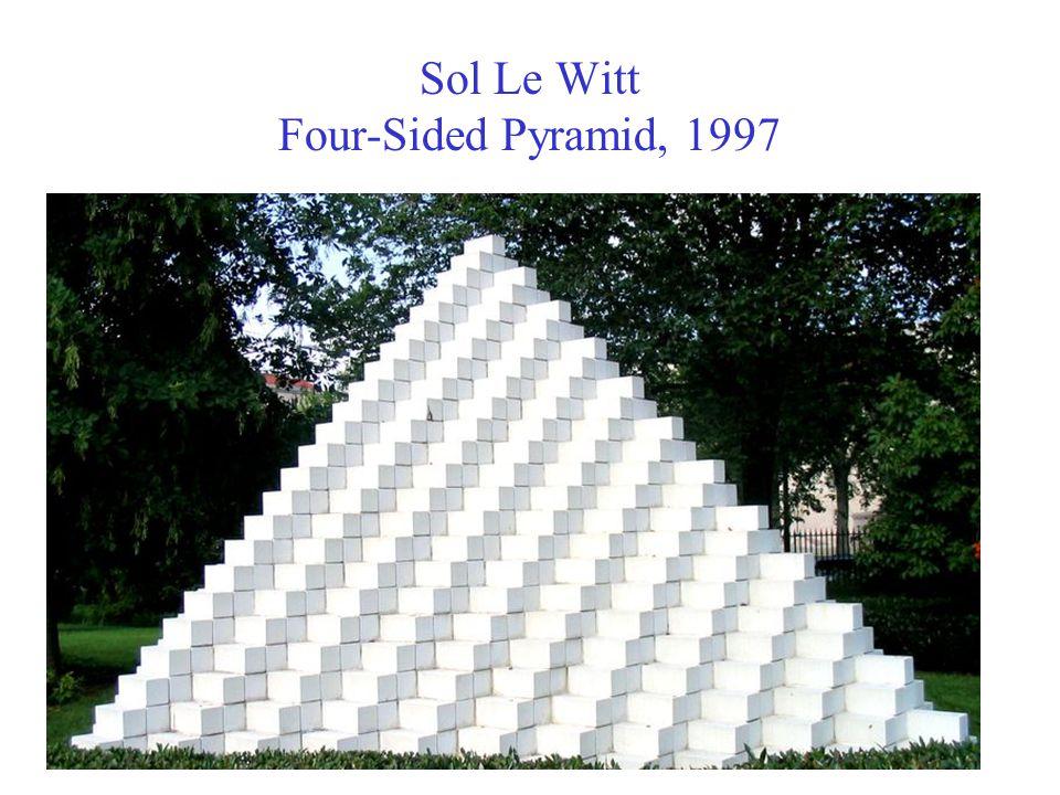 Sol Le Witt Four-Sided Pyramid, 1997