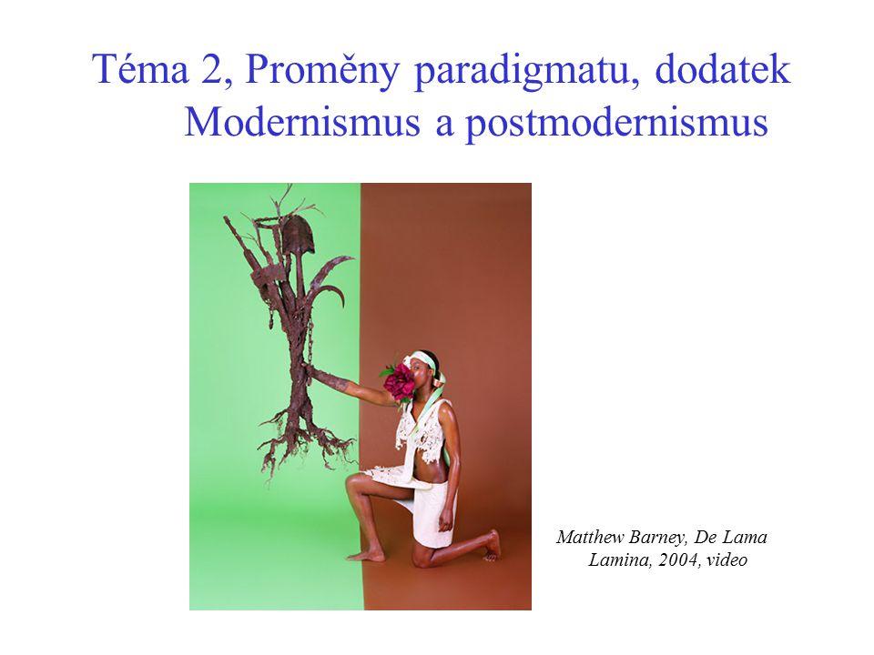 Téma 2, Proměny paradigmatu, dodatek Modernismus a postmodernismus Matthew Barney, De Lama Lamina, 2004, video
