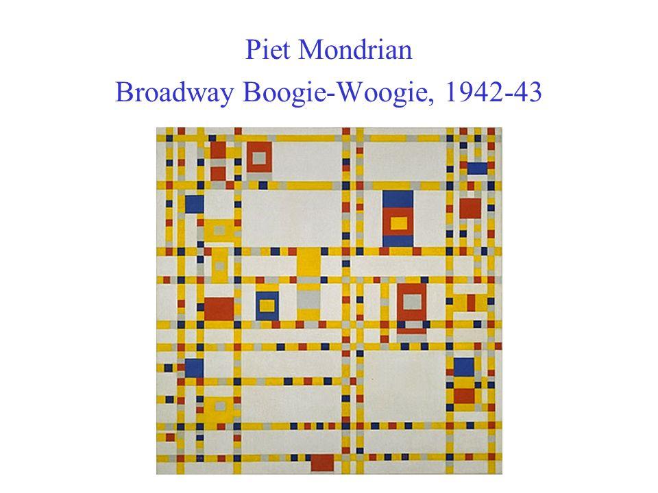 Piet Mondrian Broadway Boogie-Woogie, 1942-43