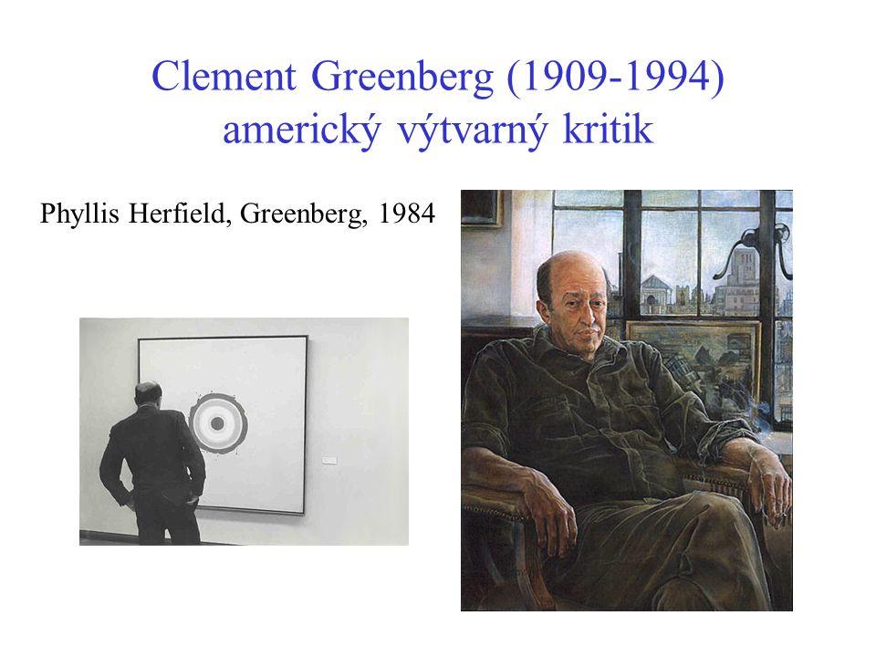 Clement Greenberg (1909-1994) americký výtvarný kritik Phyllis Herfield, Greenberg, 1984