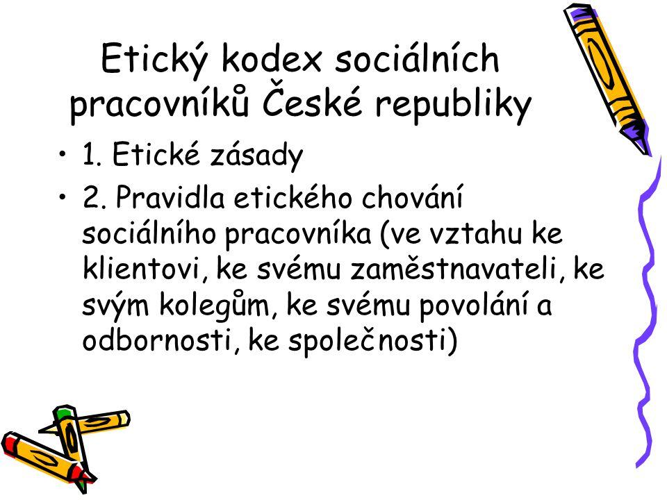 Etický kodex sociálních pracovníků České republiky 1.