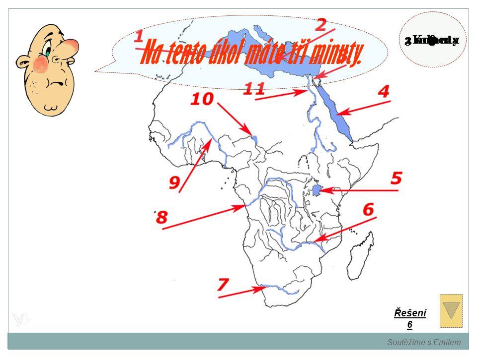 Pojmenujte označená místa na mapě. Soutěžíme s Emilem