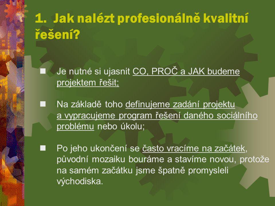 1.Jak nalézt profesionálně kvalitní řešení.