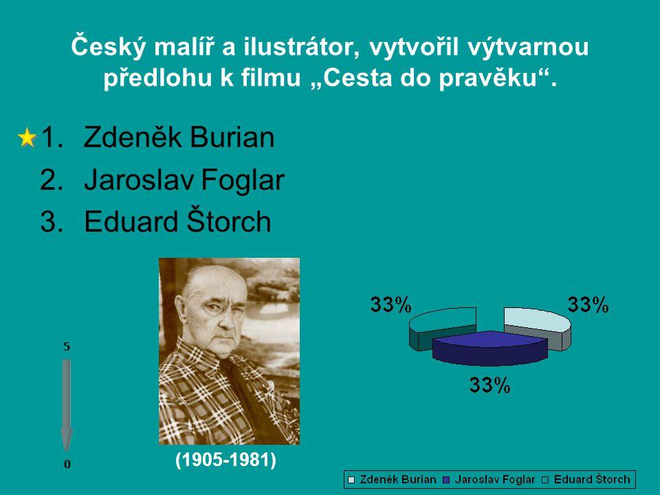 Český učitel a spisovatel, který ve svých povídkách a románech poutavě zachytil dobu pravěku. 0 0 5 1.Alois Jirásek 2.Eduard Štorch 3.Zikmund Winter (