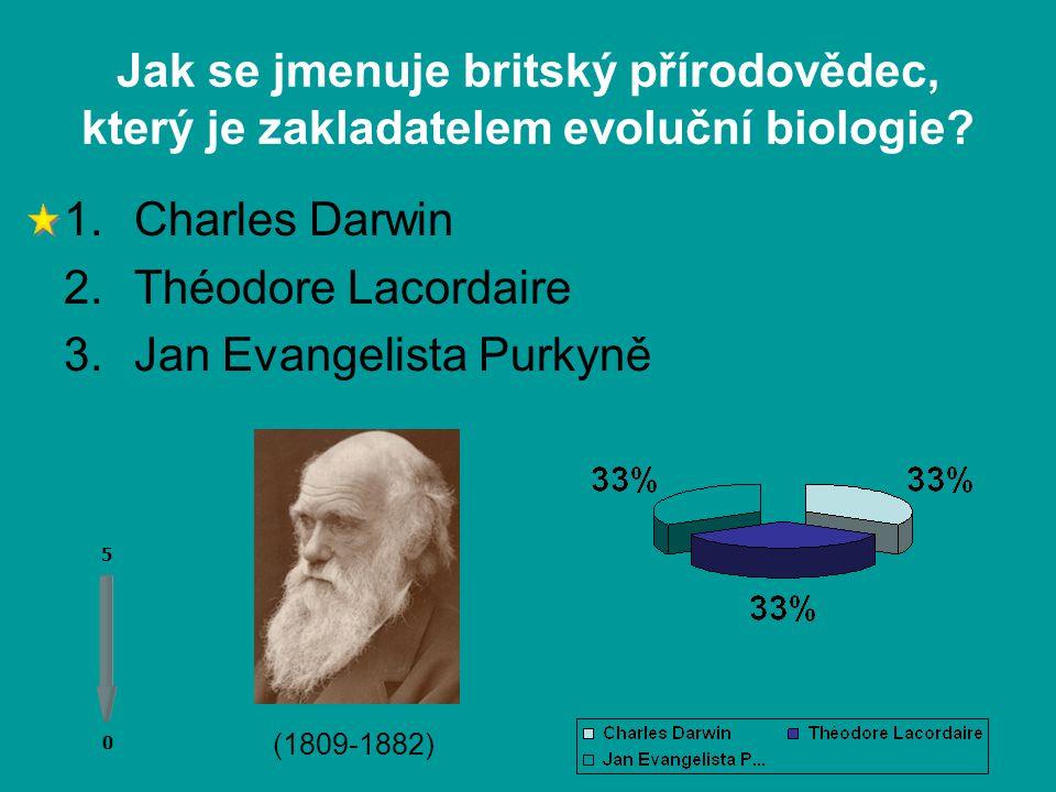 Jak se jmenuje britský přírodovědec, který je zakladatelem evoluční biologie.