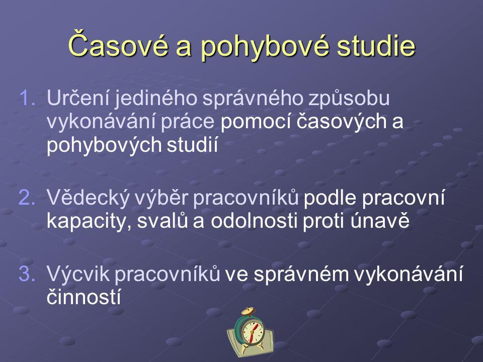 Časové a pohybové studie 1.