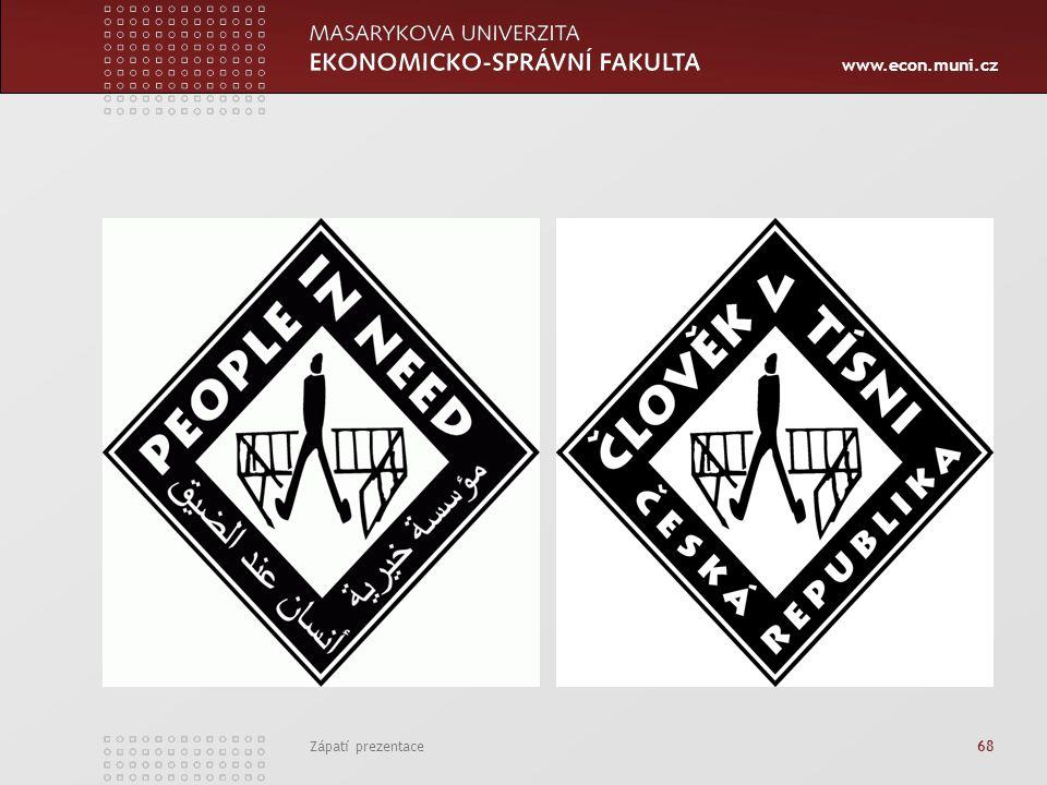 www.econ.muni.cz Zápatí prezentace 68