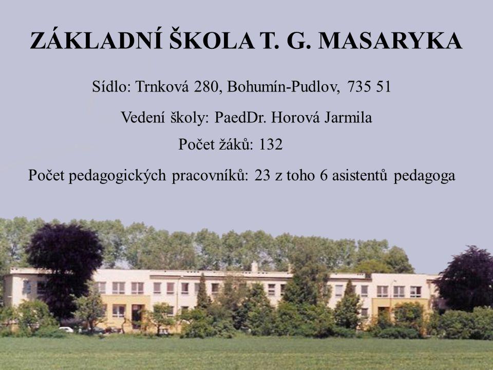 ZÁKLADNÍ ŠKOLA T.G. MASARYKA Sídlo: Trnková 280, Bohumín-Pudlov, 735 51 Vedení školy: PaedDr.