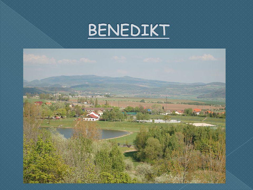  Benedikt je uměle vytvořené jezero, které se začalo napouštět 1973.
