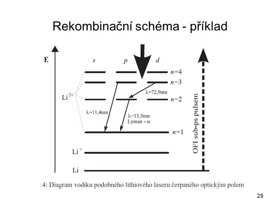 Rekombinační schéma - příklad 29