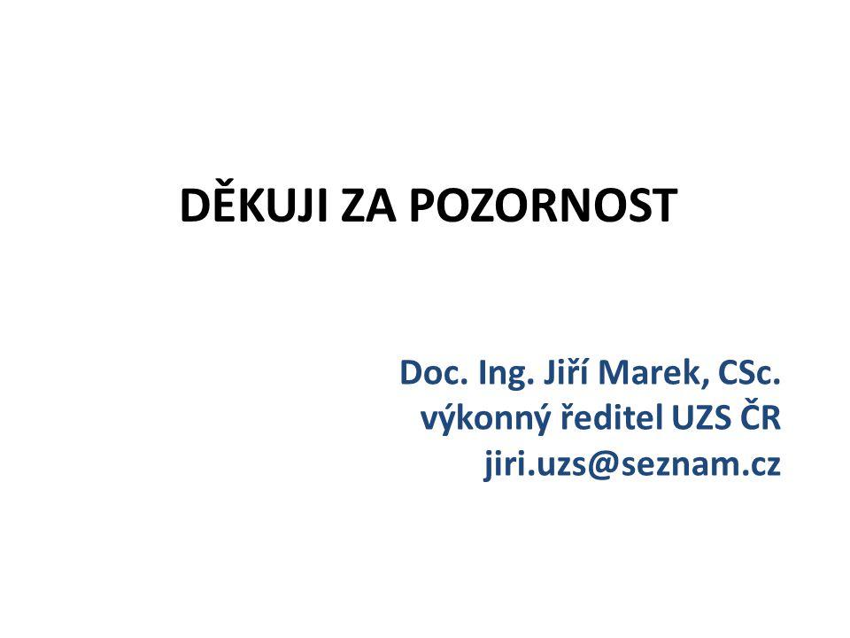 Doc. Ing. Jiří Marek, CSc. výkonný ředitel UZS ČR jiri.uzs@seznam.cz DĚKUJI ZA POZORNOST