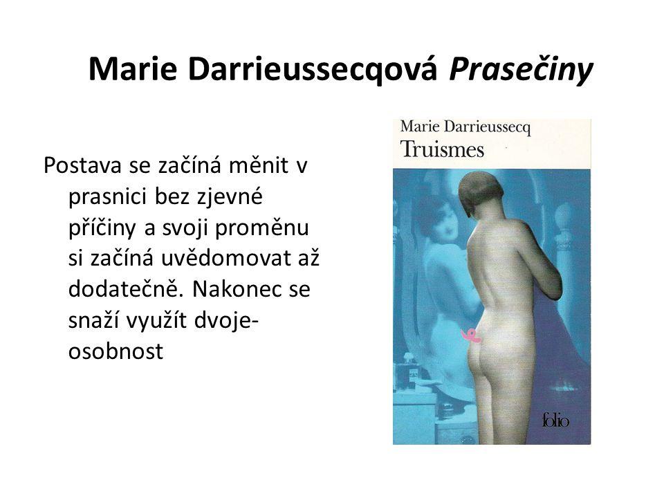 Marie Darrieussecqová Prasečiny Postava se začíná měnit v prasnici bez zjevné příčiny a svoji proměnu si začíná uvědomovat až dodatečně.