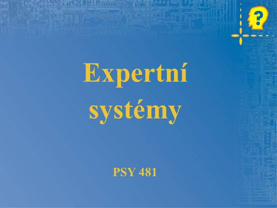 Expertní systémy PSY 481