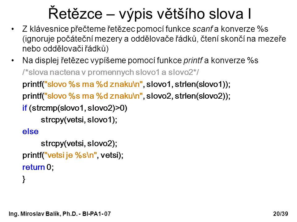 Ing. Miroslav Balík, Ph.D.