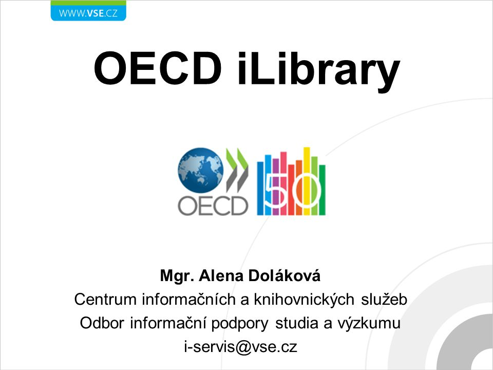 OECD iLibrary Mgr.