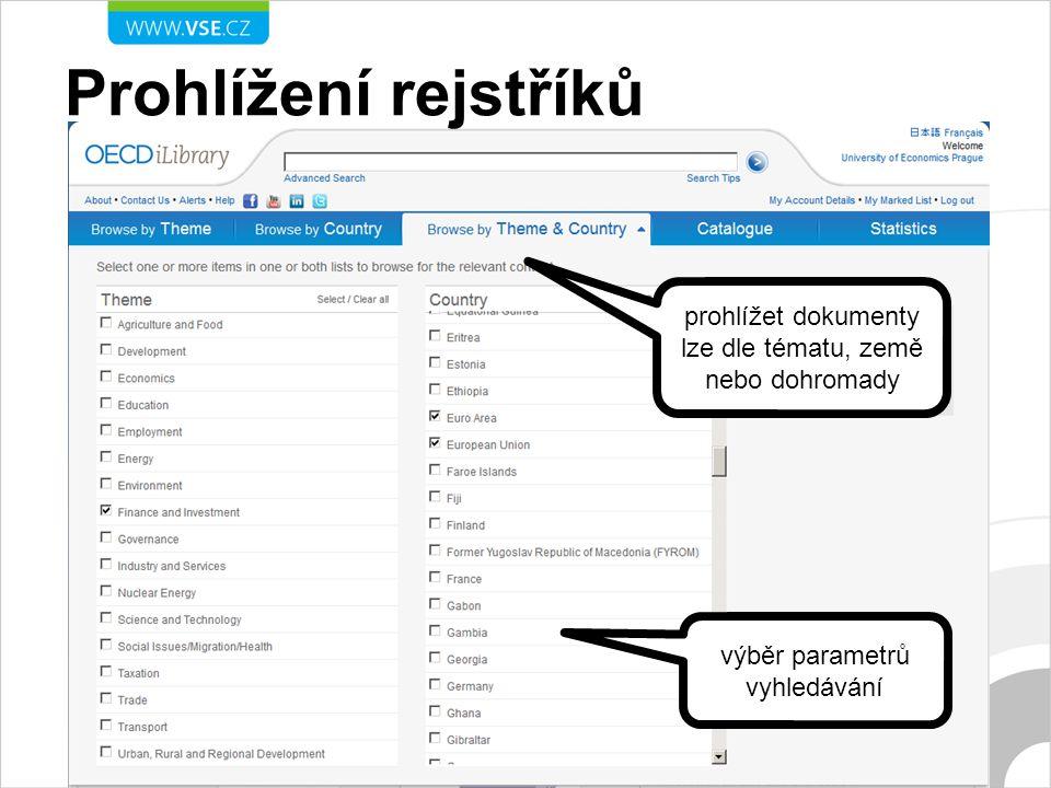 Katalog publikací omezení hledání