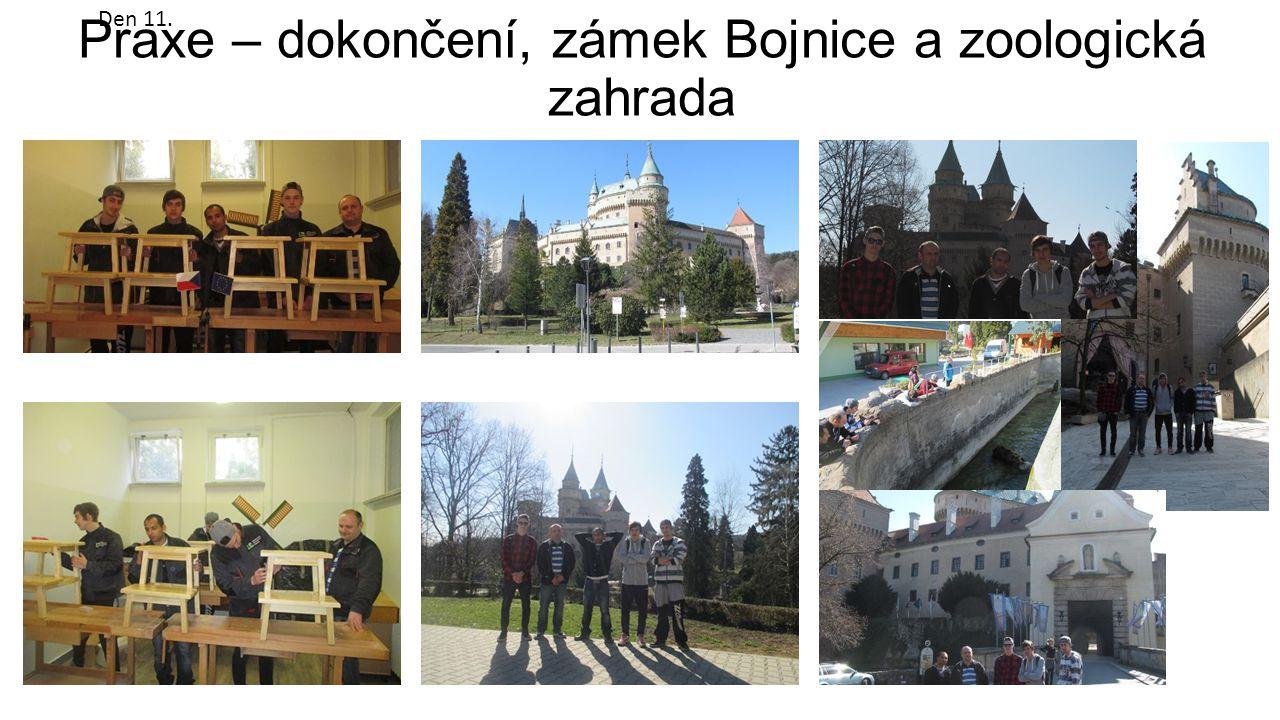 Praxe – dokončení, zámek Bojnice a zoologická zahrada Den 11.
