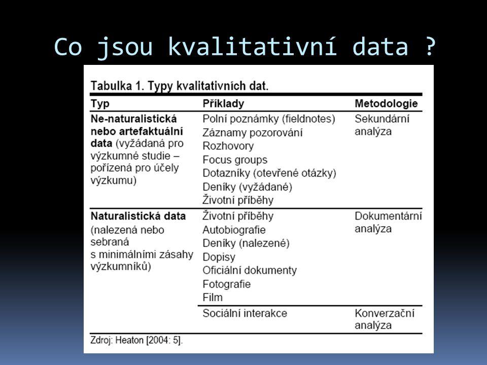 Co jsou kvalitativní data
