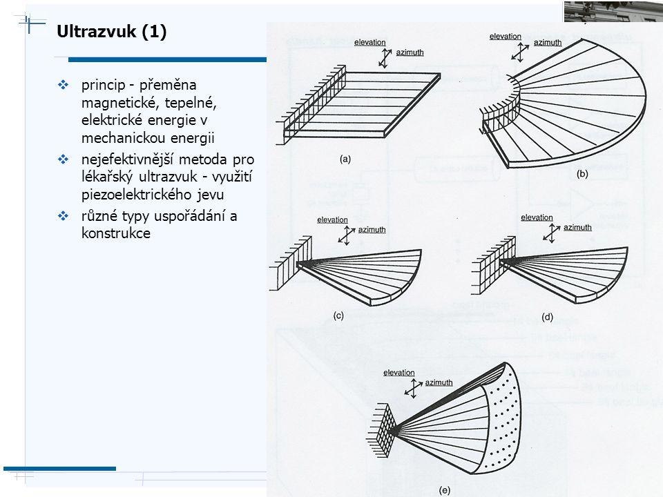 B i o c y b e r n e t i c s G r o u p Ultrazvuk (1)  princip - přeměna magnetické, tepelné, elektrické energie v mechanickou energii  nejefektivnějš
