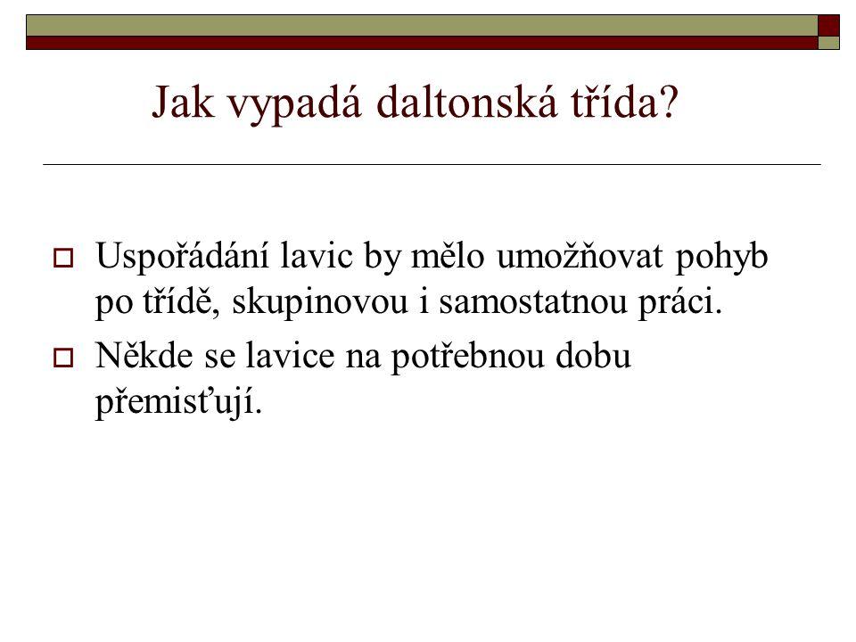 Jak probíhá daltonská výuka. V českých školách se vyučuje pouze v daltonských blocích např.