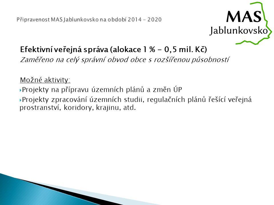 Efektivní veřejná správa (alokace 1 % - 0,5 mil.
