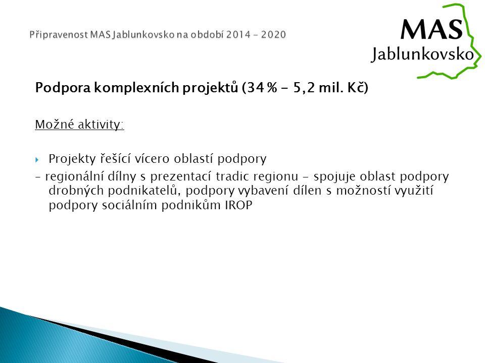 Podpora komplexních projektů (34 % - 5,2 mil.