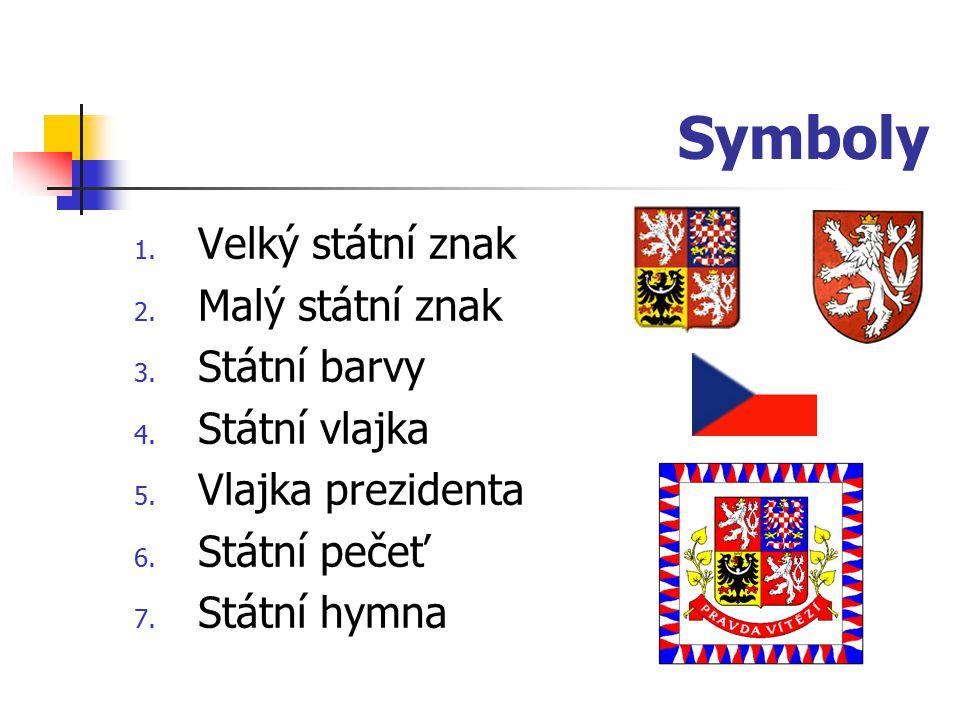Symboly 1. Velký státní znak 2. Malý státní znak 3.