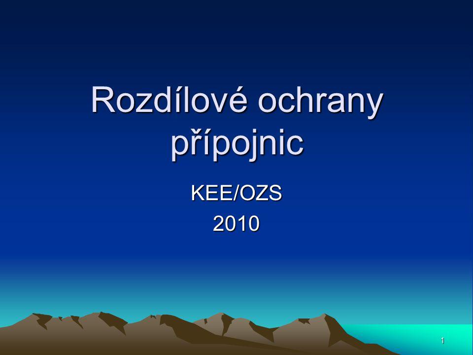 1 Rozdílové ochrany přípojnic KEE/OZS2010