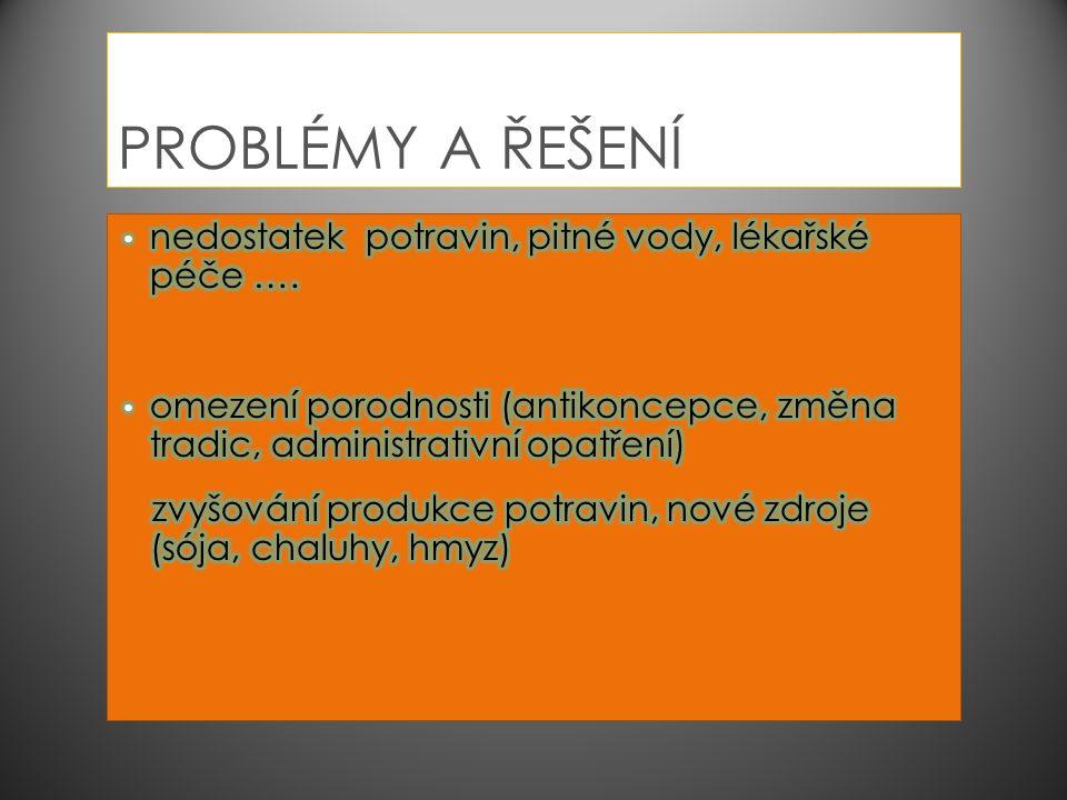PROBLÉMY A ŘEŠENÍ