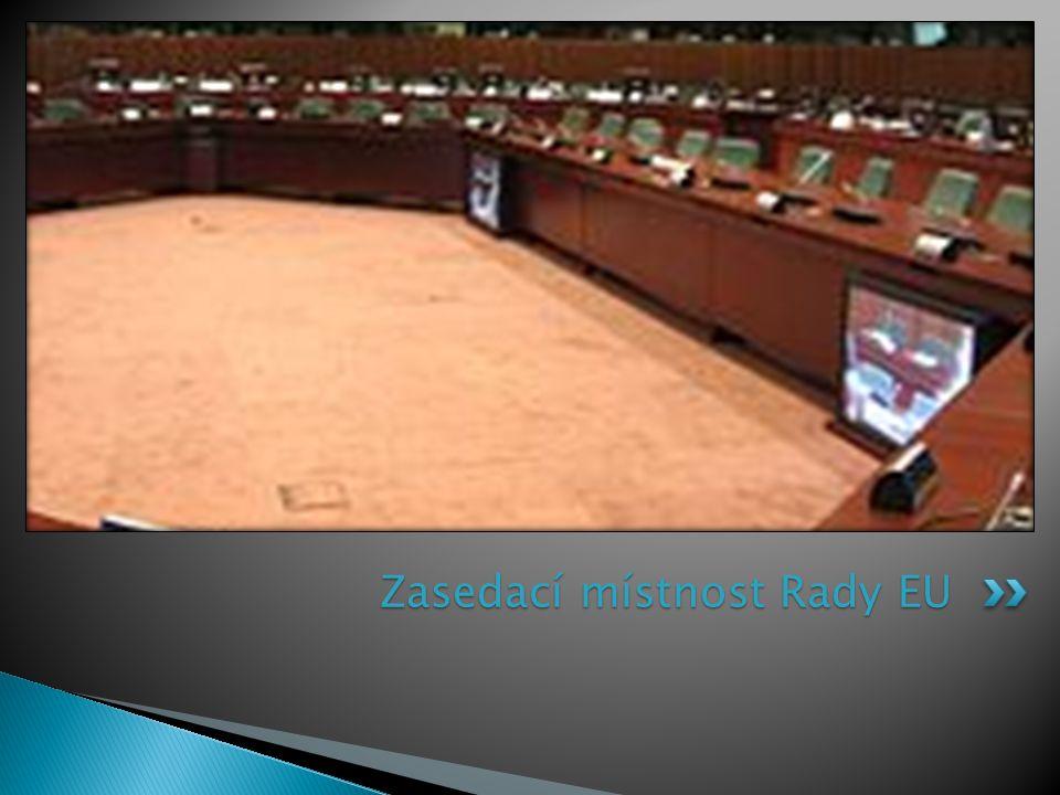 Zasedací místnost Rady EU