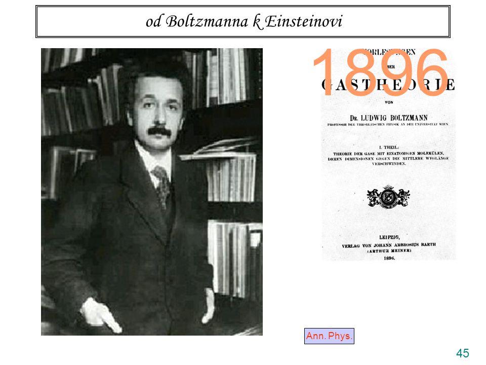 45 od Boltzmanna k Einsteinovi Ann. Phys. 1896