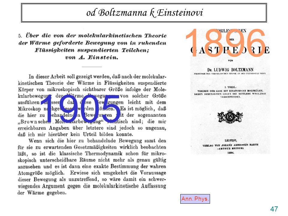 47 od Boltzmanna k Einsteinovi Ann. Phys. 1905 1896