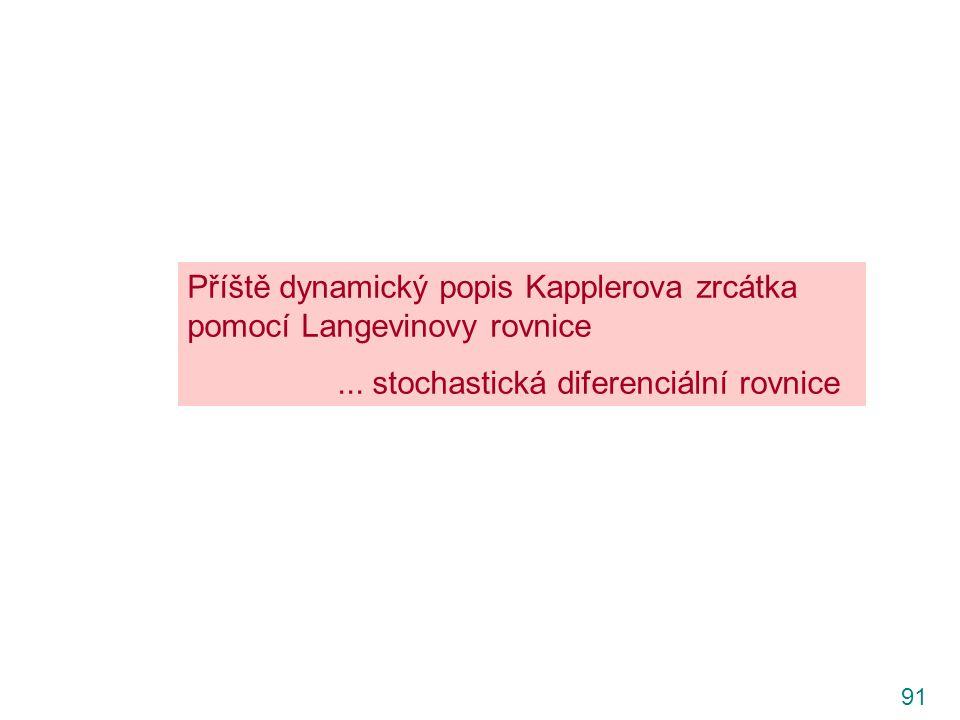91 Příště dynamický popis Kapplerova zrcátka pomocí Langevinovy rovnice...