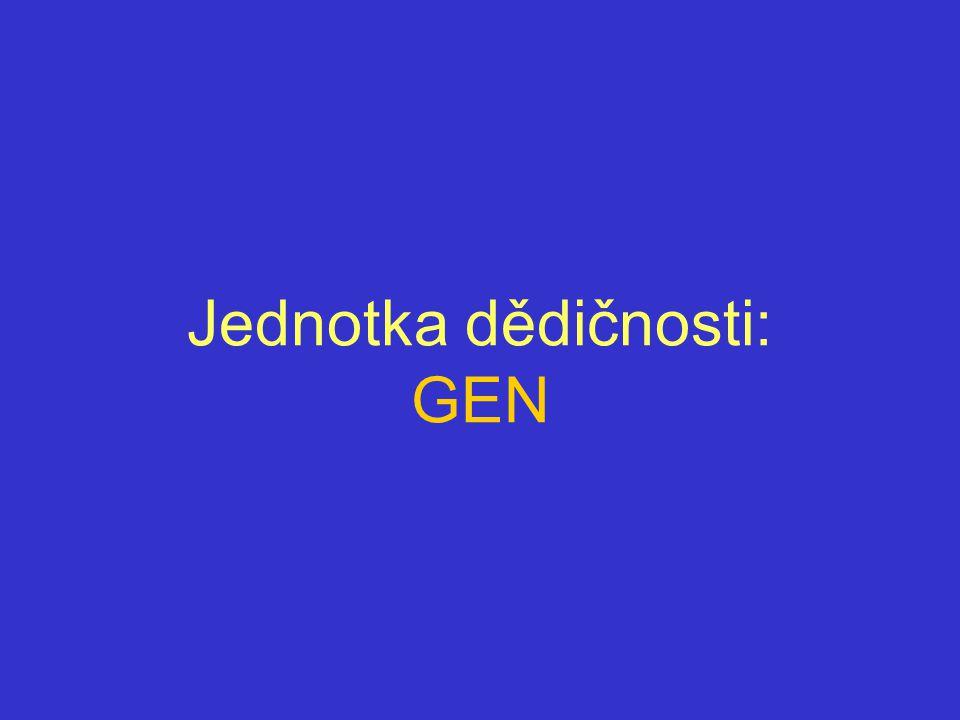 Jednotka dědičnosti: GEN