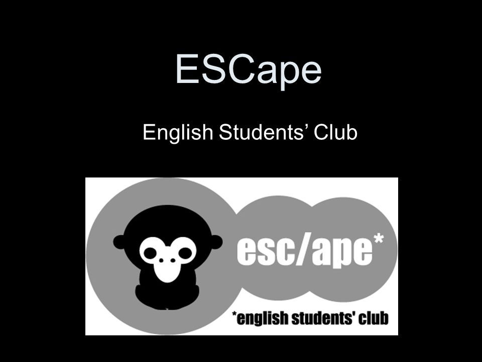 ESCape English Students' Club