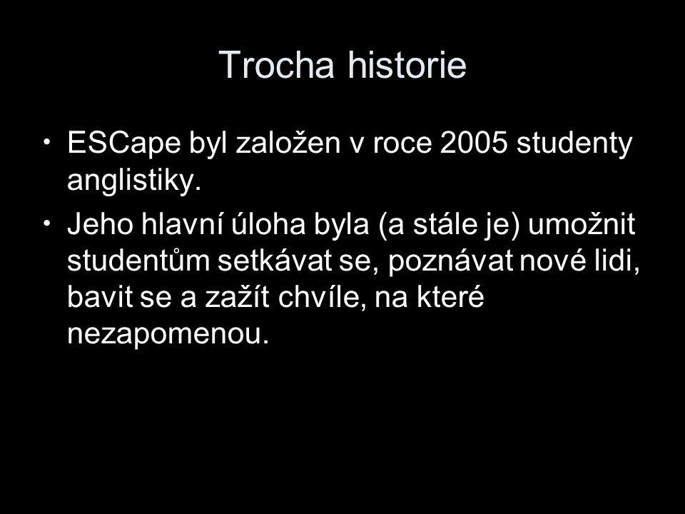 Trocha historie ESCape byl založen v roce 2005 studenty anglistiky.