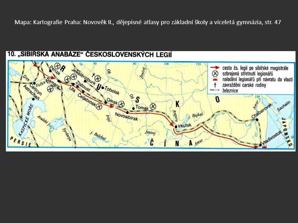 Mapa: Kartografie Praha: Novověk II., dějepisné atlasy pro základní školy a víceletá gymnázia, str. 47