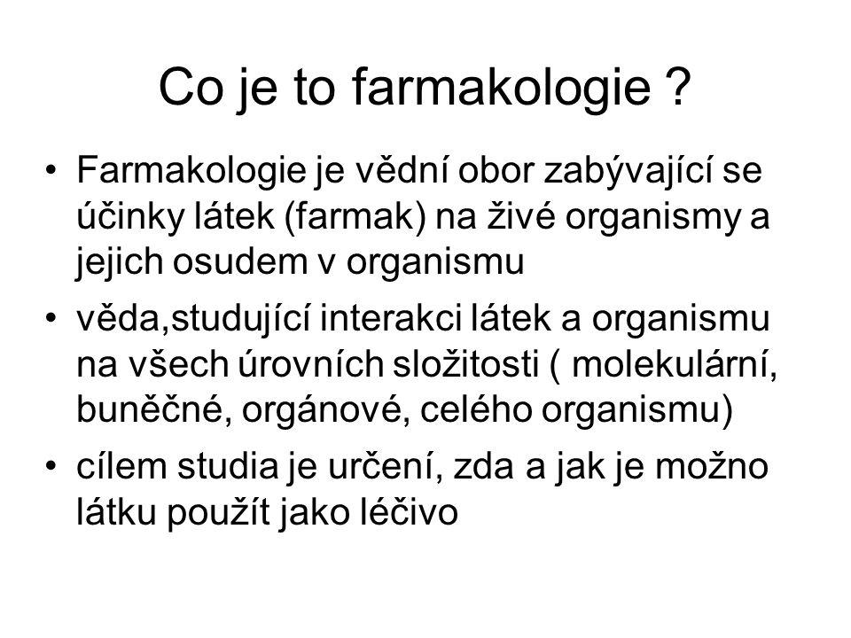 Co je to farmakologie .