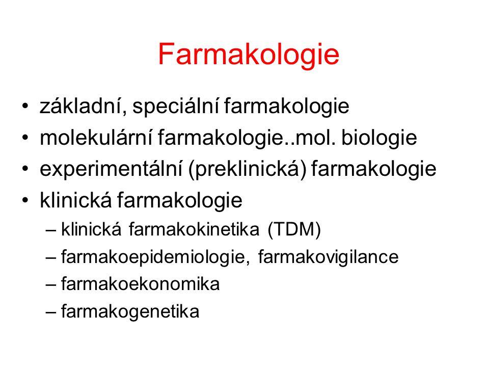 Farmakologie základní, speciální farmakologie molekulární farmakologie..mol.