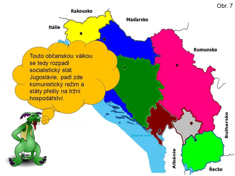 Nezávislost vyhlásili pak následující státy: V červenci 1991 Slovinsko a Chorvatsko. V listopadu 1991 pak Makedonie. V březnu 1992 se přidala Bosna a