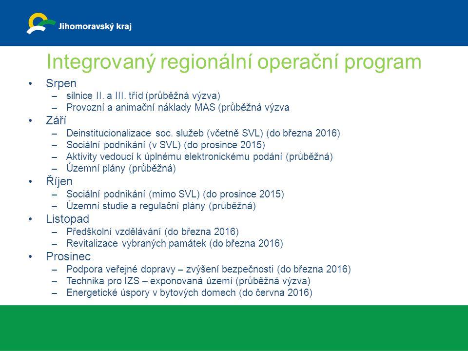 Integrovaný regionální operační program Srpen –silnice II.