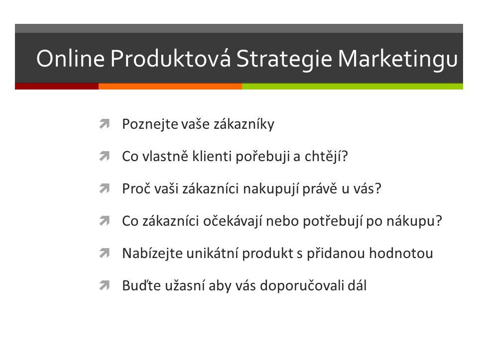 Online Produktová Strategie Marketingu  Poznejte vaše zákazníky  Co vlastně klienti pořebuji a chtějí.