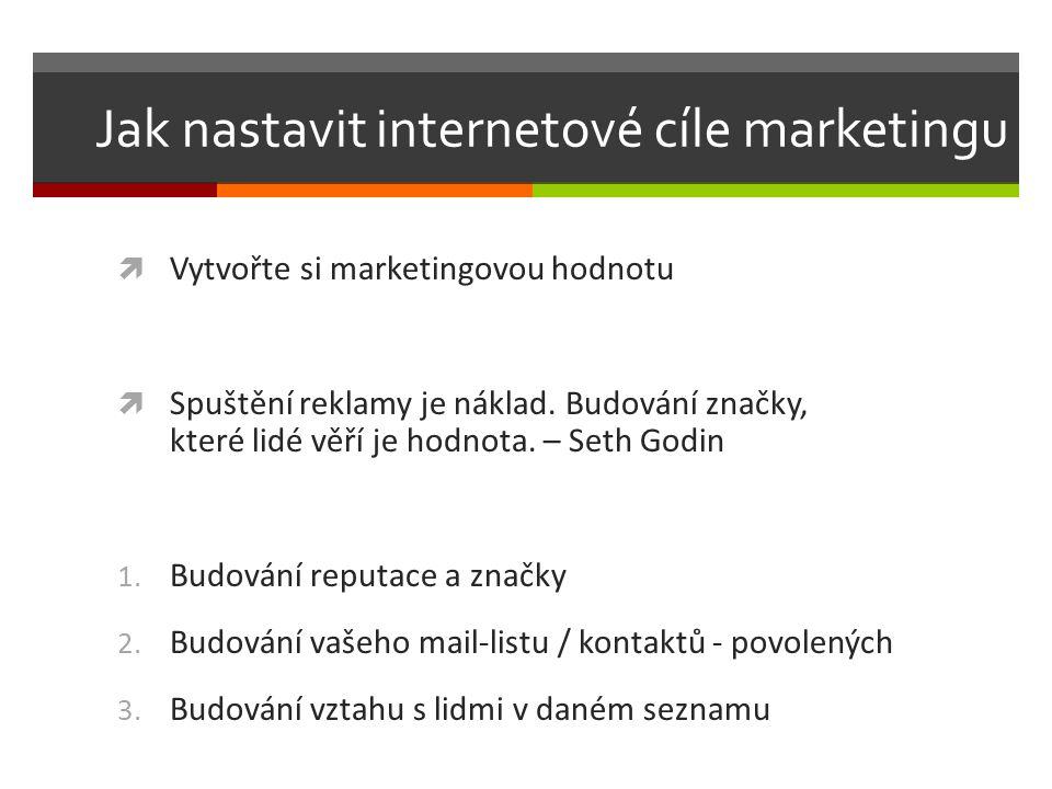Jak nastavit internetové cíle marketingu  Vytvořte si marketingovou hodnotu  Spuštění reklamy je náklad.