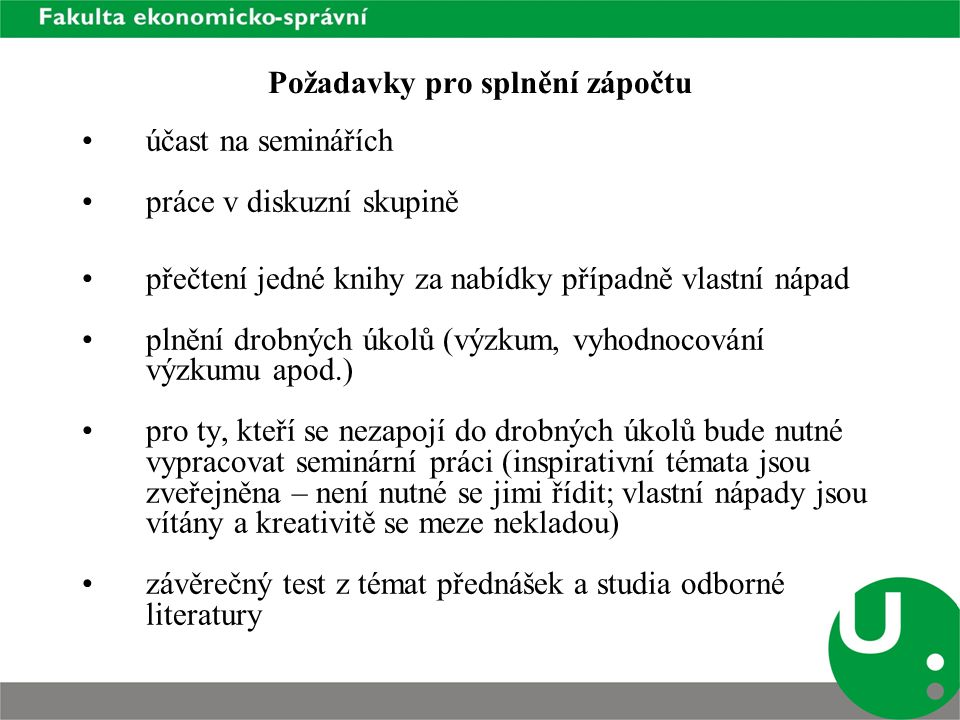 Doporučená literatura Sociologický časopis.Velký sociologický slovník I., II.