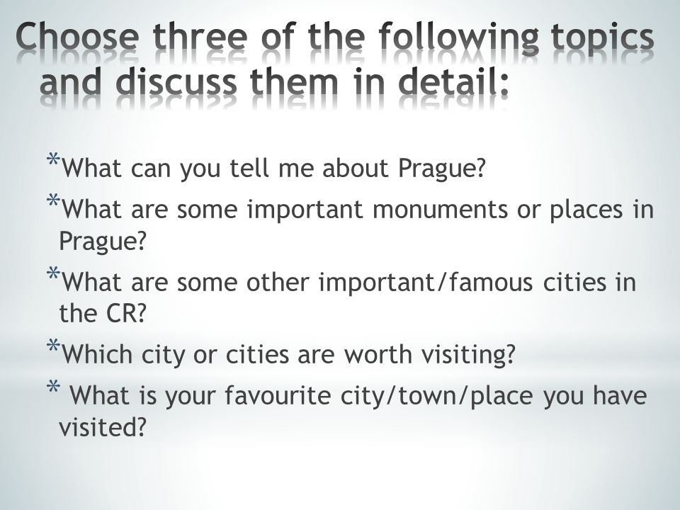 * What can you tell me about Prague. * What are some important monuments or places in Prague.