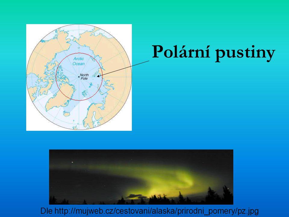 Polární pustiny Dle http://mujweb.cz/cestovani/alaska/prirodni_pomery/pz.jpg