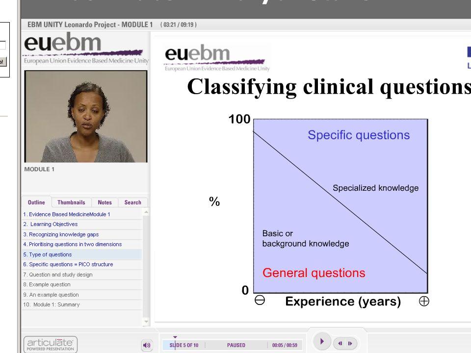 3 Klasifikace klinických otázek