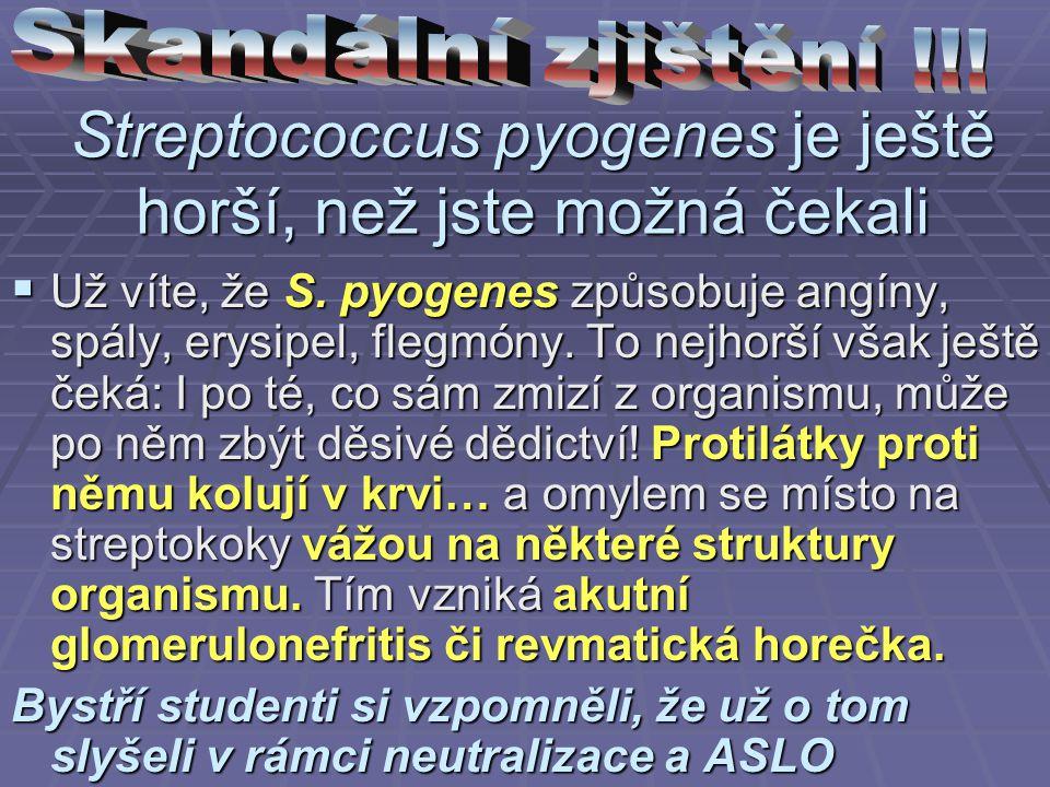 Streptococcus pyogenes je ještě horší, než jste možná čekali  Už víte, že S. pyogenes způsobuje angíny, spály, erysipel, flegmóny. To nejhorší však j