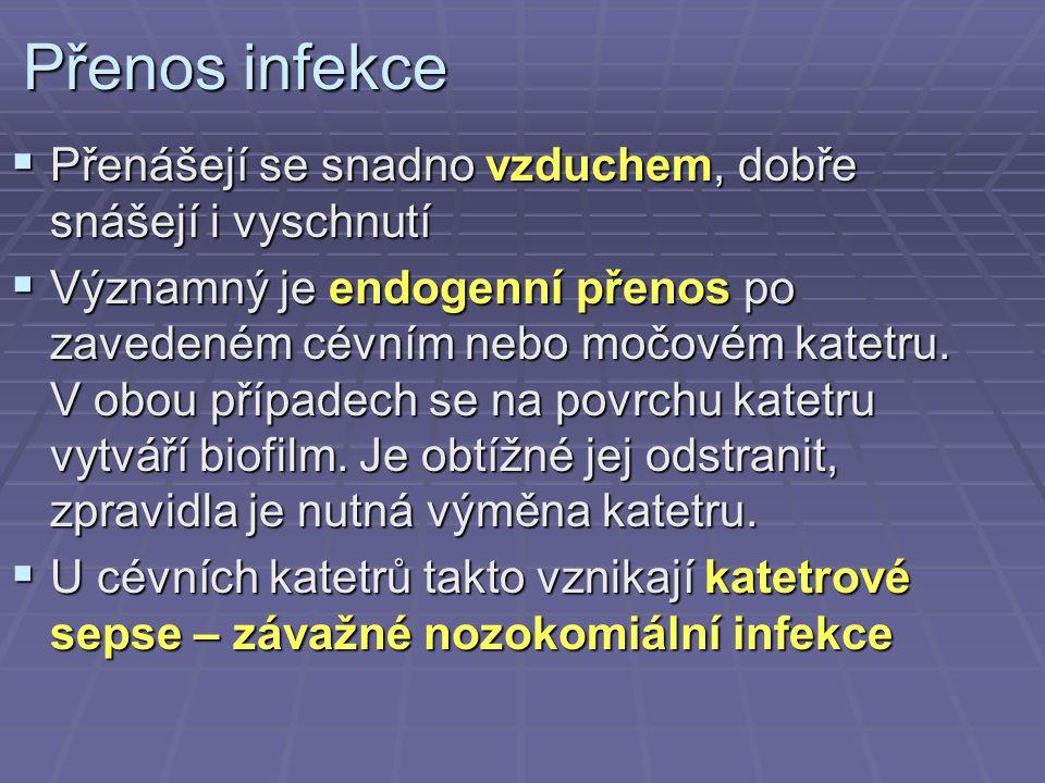 Léčba enterokokových infekcí  Na enterokoky neplatí cefalosporiny.
